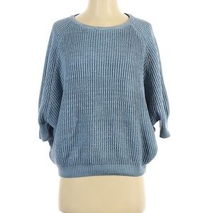 Chico's blue dolman knitted sweater size 0